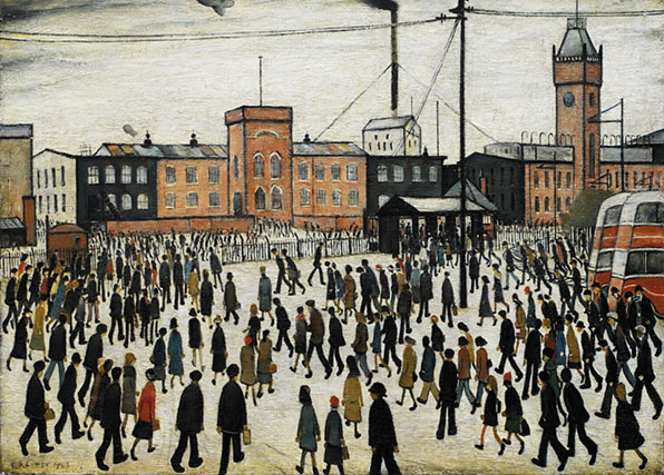 Going to Work LS Lowry