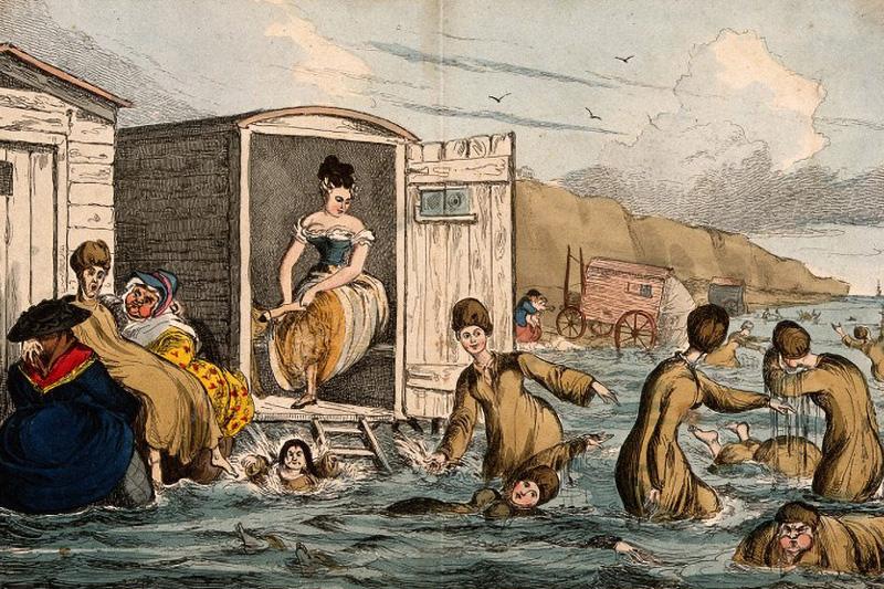 Sea-bathing in Brighton